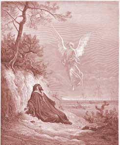 1 Kings Chapter 19: Elijah Is Nourished by an Angel