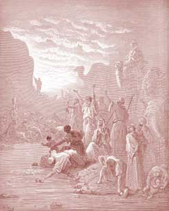 Exodus Chapter 17: Moses Strikes the Rock at Horeb