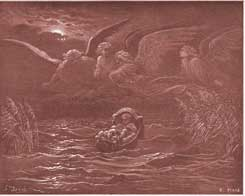 Exodus Chapter 2: The Child Moses on the Nile by Gustave Dor�