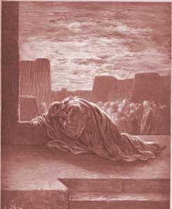 Ezra Chapter 9: Ezra Kneels in Prayer