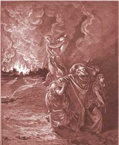 Genesis Chapter 19: Lot Flees as Sodom and Gomorrah Burn