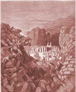 Joshua Chapter 6: The Walls of Jericho Fall Down by Gustave Dor�